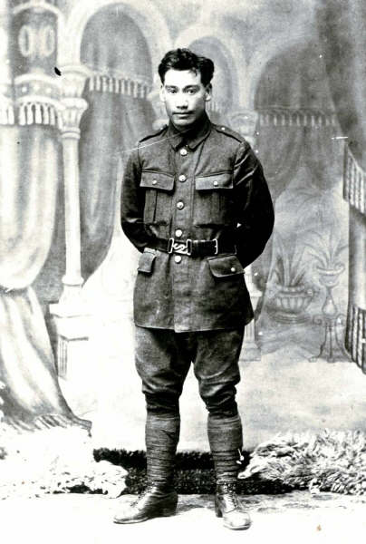 Black and white photo of Tere Howard in uniform