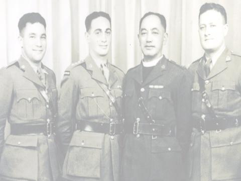 Could you help to identify the soldier on the left?