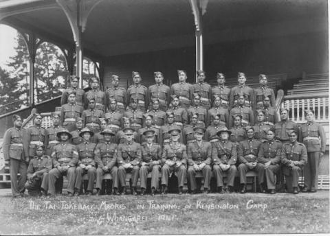 1941 The Tai Tokerau Maoris - In Training, at Kensington Camp, Whangarei